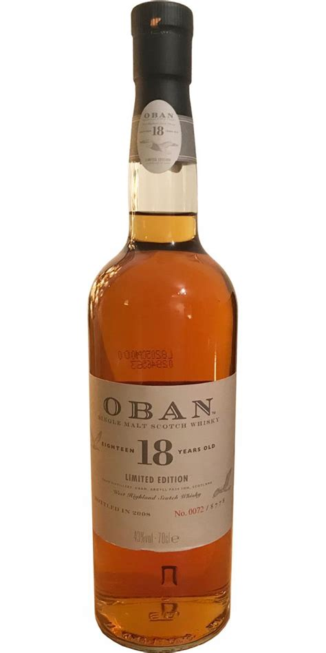 Oban 18-year-old - Ratings and reviews - Whiskybase