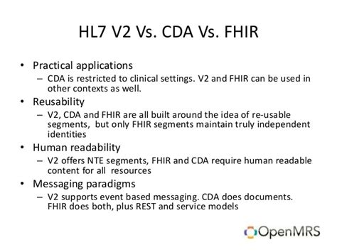 Interoperability, the rise of HL7 and FHIR