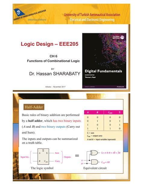 (PDF) Logic Design Course - 6 - Functions of Combinational