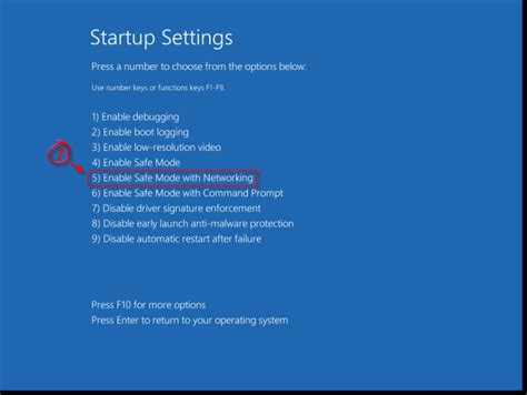 How to start Windows 8 in Safe Mode with Networking