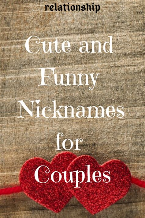 Cute and Funny Nicknames for Couples | Funny nicknames
